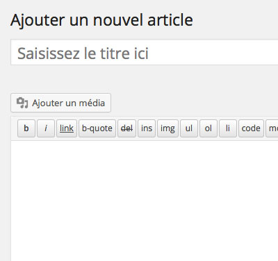Ajouter article WordPress titre