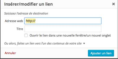 Lien Hypertext Wordpress Creer Supprimer Lien Hypertextla Becane
