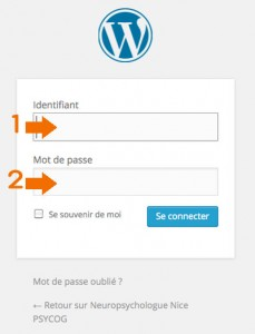 gestion menu WordPress