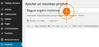 ajouter produit ecommerce wordpress