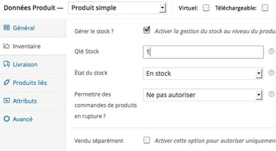 Gestion stock woocommerce