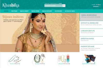 Création site ecommerce Lyon Khashika