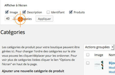 Classer catégories produits WooCommerce