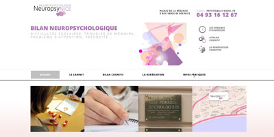 Site CMS WordPress neuropsychologue Nice