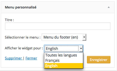 Traduction widget Polylang