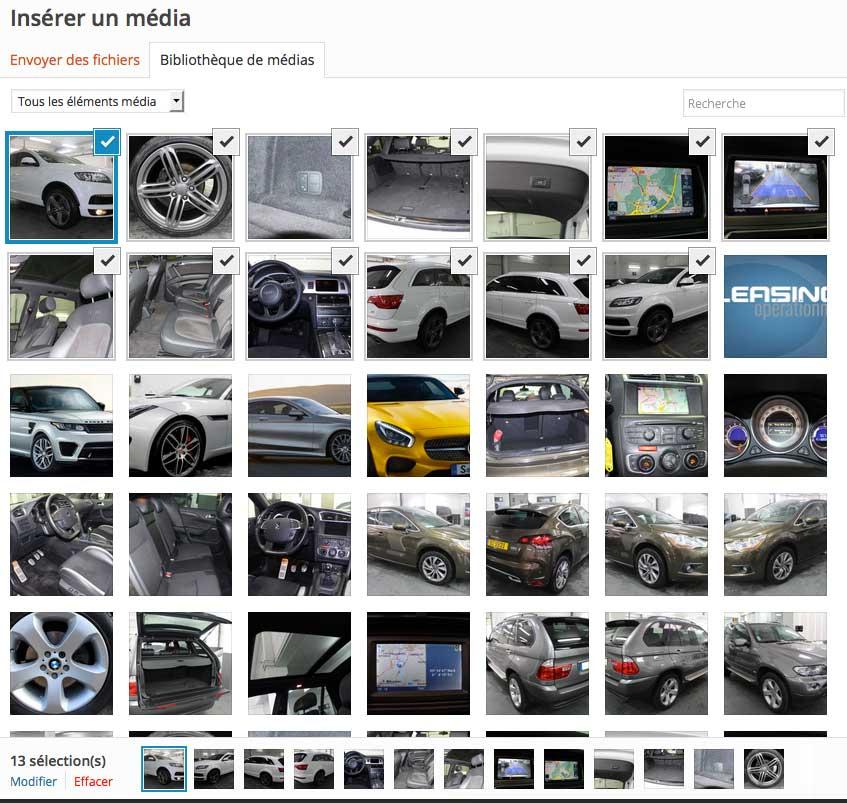 Ajouter média image WordPress