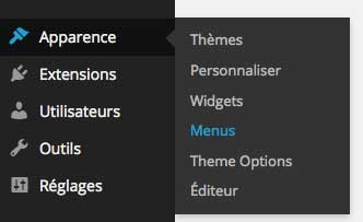 modifier menu wordpress