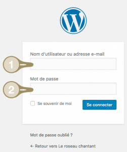 Comment se connecter à administration WordPress