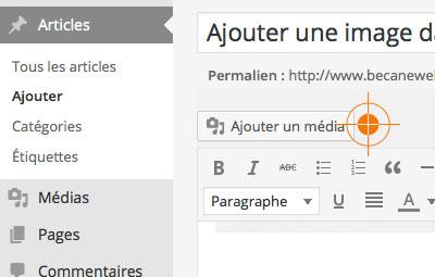 Ajouter image WordPress