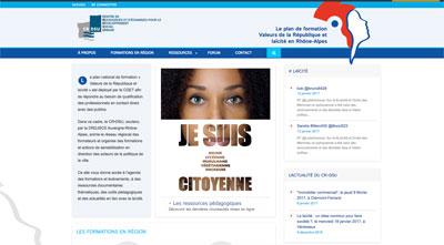 Création site WordPress Lyon Plan formation laïcité Rhône-Alpes