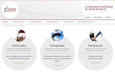 Refonte site internet CIRDIS Villeurbanne