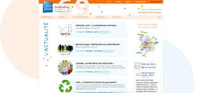 Refonte site internet Fédération centres sociaux Rhône