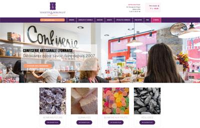Boutique ecommerce confiseur Lyon